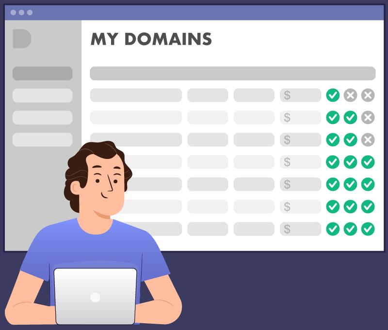 Smart domainer using Domain.io